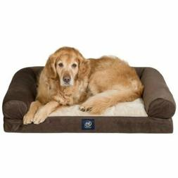 """40""""x 30"""" Serta XL Round Bolster Comfort Couch Pet Bed"""