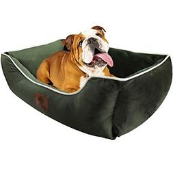 "AKC Deluxe Extra Large Pet Cuddler Dog Beds, 28""x20""x10"", Hi"