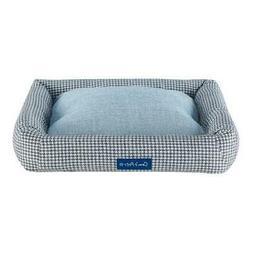 Arlo® Medium  Blue Plaid Bolster Dog Bed