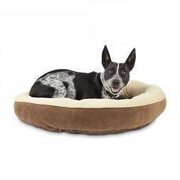 Animaze Brown Circle Bolster Dog Bed, 20 D X 6 H