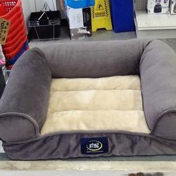 extra plush bolster bed gray small 20
