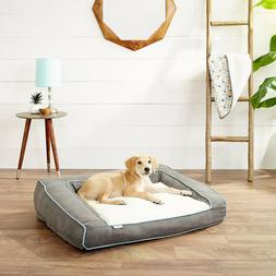 Frisco Plush Orthopedic Bolster Dog Bed w/Removable Cover