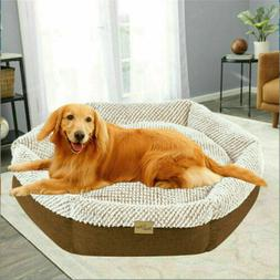 Jumbo Large Small Dog Bed Thick & Comfy Cushion Cuddler Deep