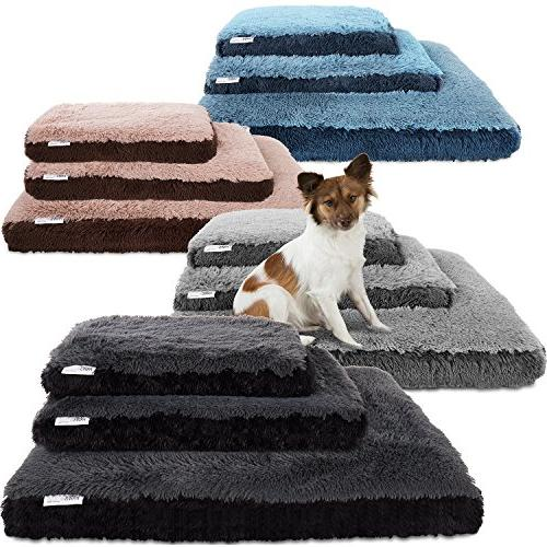 Paws & Pals Dog Bed for Pets & Cats - Bolster Foam Deluxe Be