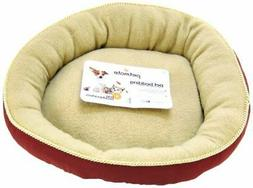 """Petmate Round Pet Bed with Elliptical Bolster - 18""""L x 18""""W"""