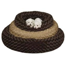 Swirl Plush Donut Dog Beds Cozy Bolster Sides Skid Resistant